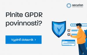 GDPR dotazník – checklist